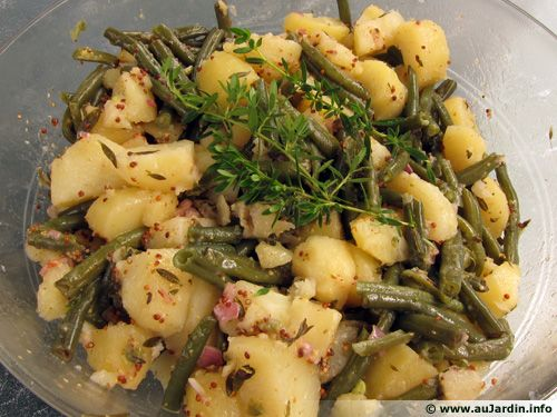 Haricots verts et pommes de terre en salade