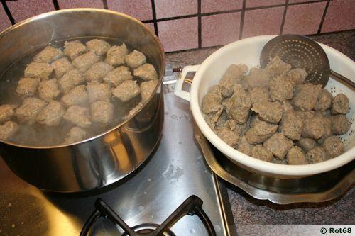 Lawerknepfla, quenelles de foie d'Alsace