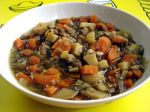 Mijoté de pommes de terre nouvelles et lentilles (végétarien)
