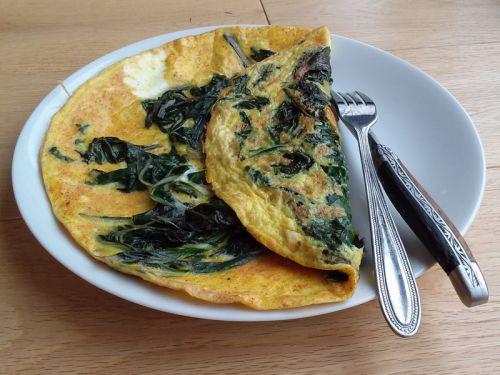 Omelette aux feuilles de blette et curcuma recette de - Comment cuisiner les feuilles de blettes ...
