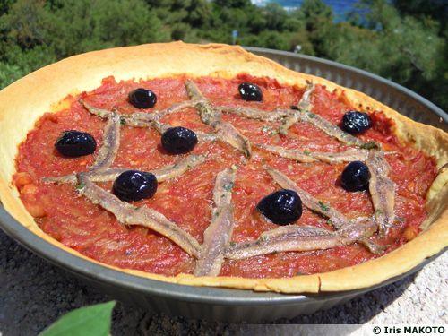 Pissaladière à la tomate