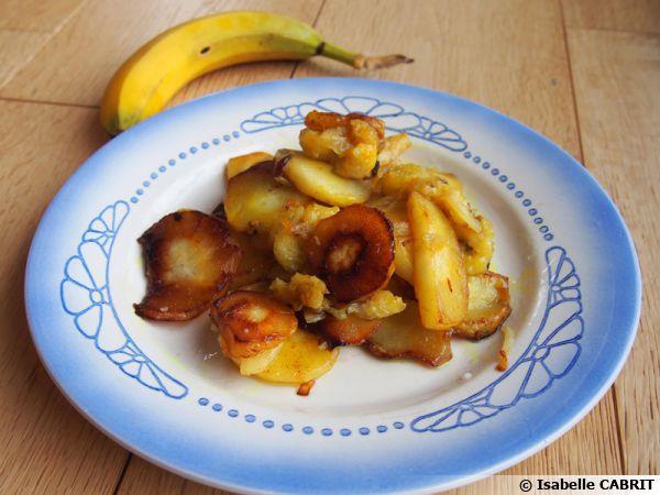 Poêlée de panais et bananes au curcuma