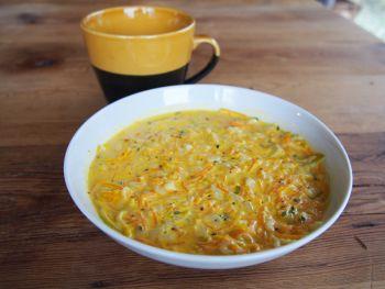 Potage express carottes-poireau