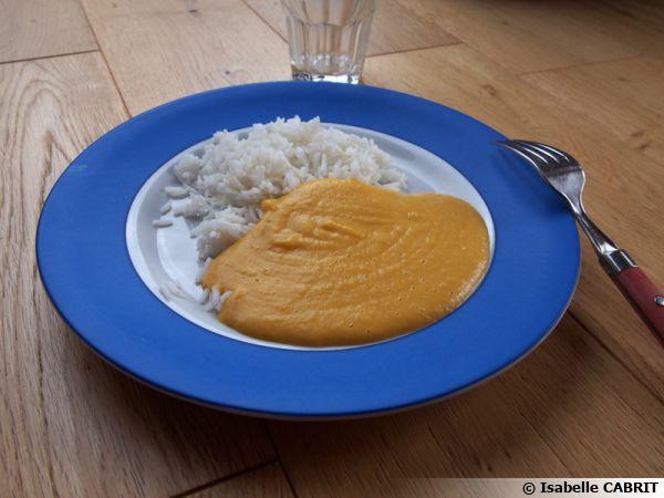 Purée de courge au pois chiches et au riz