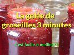 La gelée de groseilles 3 minutes