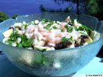 Salade de champignons aux crevettes