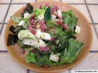 Salade de chèvre et lardons au sésame