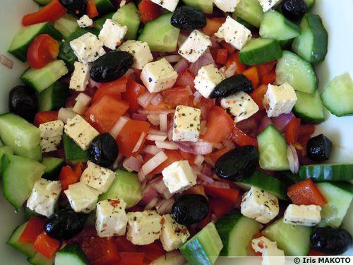Salade crétoise à la Féta