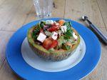 Salade de melon, courgette et basilic