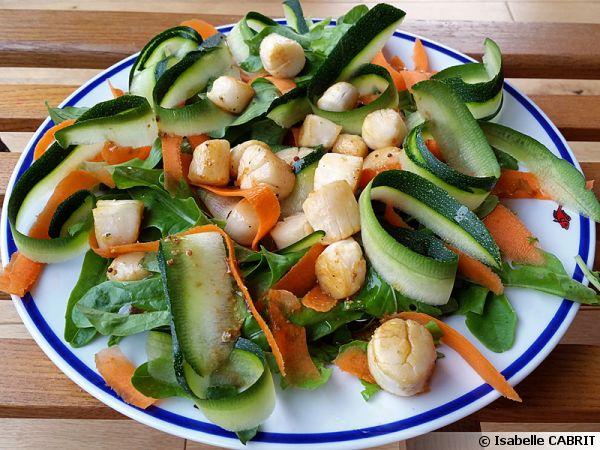 Salade aux noix de saint jacques