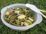 Salade de pommes de terre et haricots verts sauce aux herbes