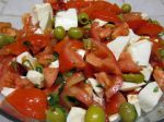 Salade Tomates Mozzarella et Olives