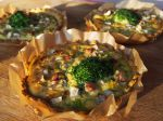 Tartelettes poireau, brocoli & noisettes