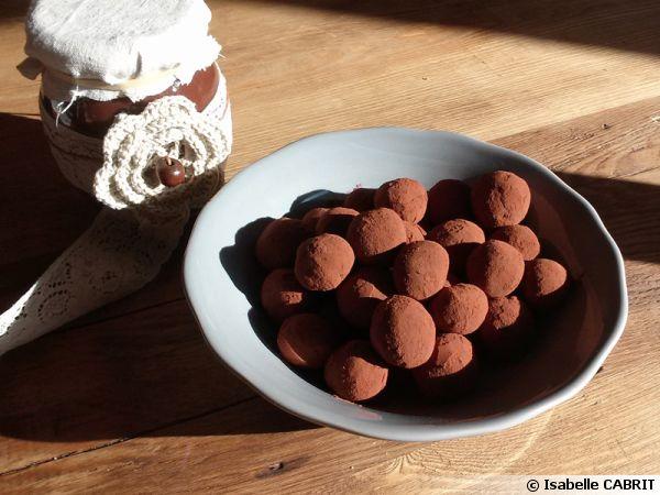 Truffes choco-crème de marrons simplissimes