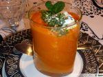 Verrine de chaud-froid de carottes et de chèvre frais