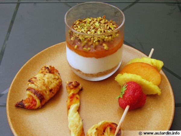 Verrines aux abricots & chocolat blanc