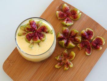 Verrines figues rôties - mascarpone
