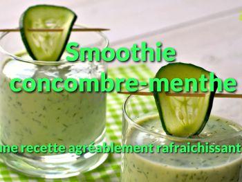 Smoothie concombrementhe