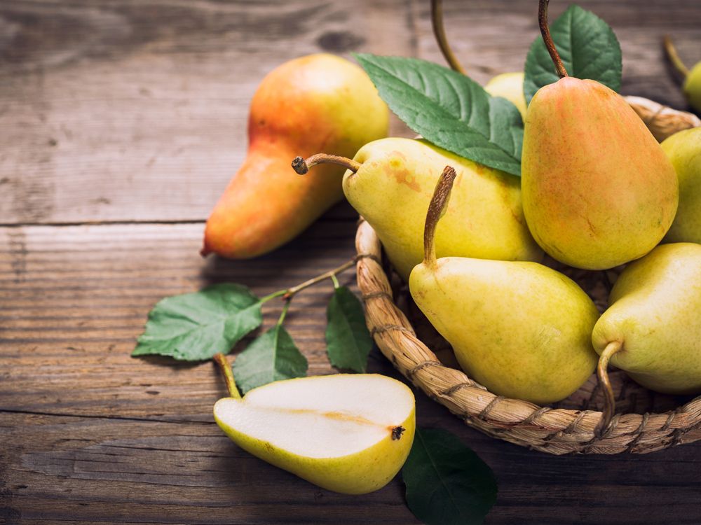 Pear, to keep fit