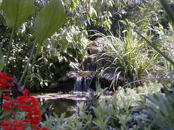 Faire un bassin avec cascade d un bassin de jardin avec - Mobilier de jardin en teck massif asnieres sur seine ...
